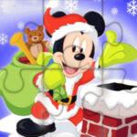 Quebra-cabeças de Natal de Mickey