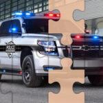 Quebra-cabeça de carros da Polícia