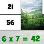 Quebra-cabeças de Tabuadas de Multiplicação