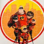 O quebra-cabeça The Incredibles, os super-heróis