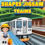 Quebra-cabeças de forma com Trens