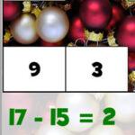 Subtrações no Natal (até 20)