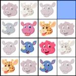 Sudoku 4×4 Animais