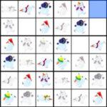 Sudoku com bonecos de neve