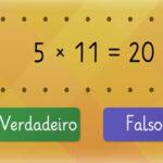 Tabuada do 5: Verdadeiro ou Falso
