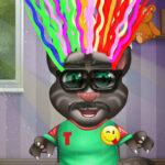Gato Tom no salão de cabeleireiro