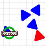 Triângulo de cores diferentes