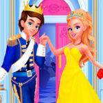 Vestindo a Princesa e o Príncipe em seu casamento