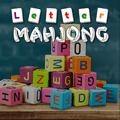Mahjong com letras do alfabeto